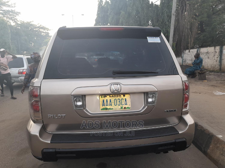 Honda Pilot 2006 EX-L 4x4 (3.5L 6cyl 5A) Gold | Cars for sale in Surulere, Lagos State, Nigeria