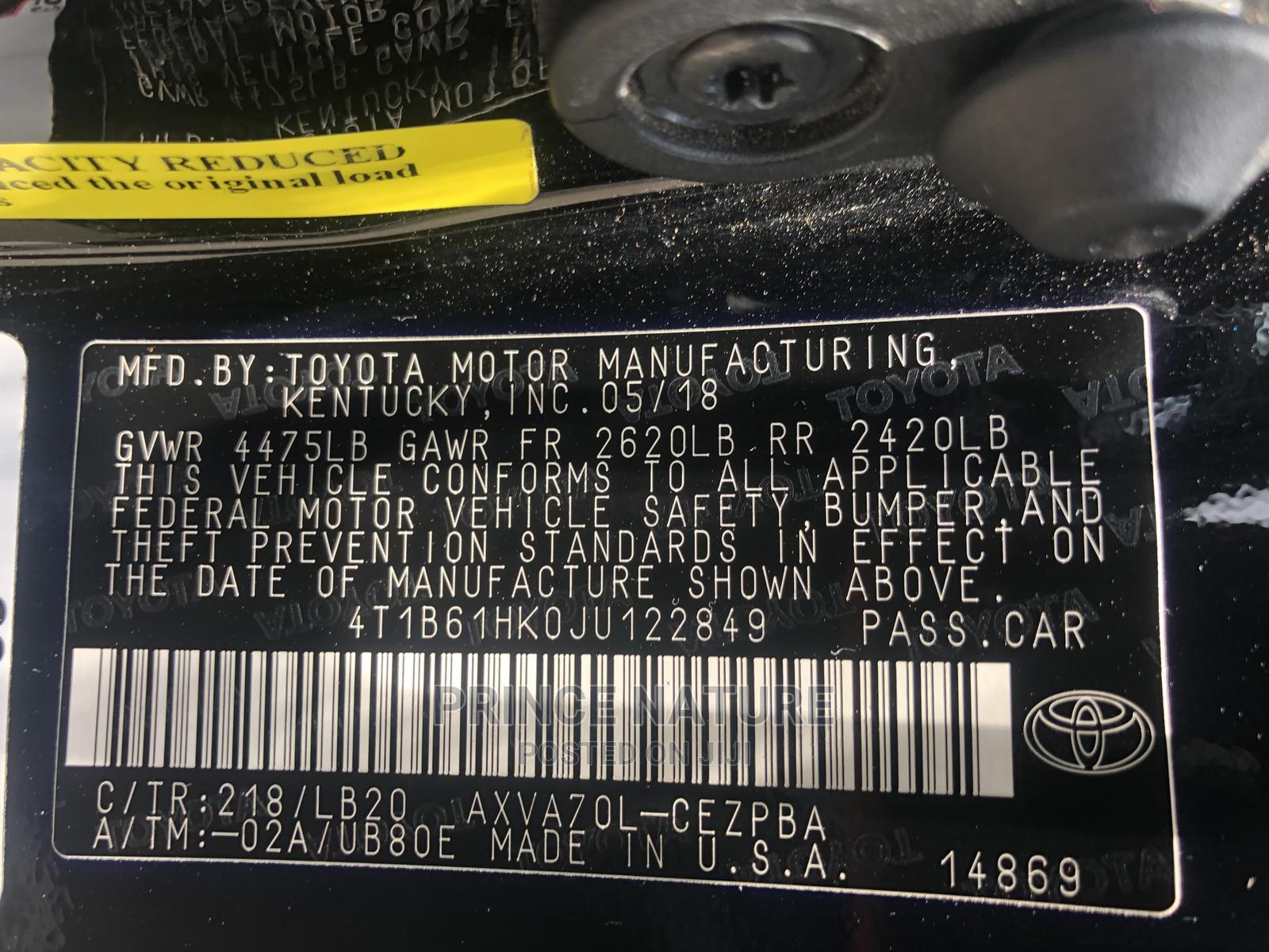 Toyota Camry 2019 XSE (2.5L 4cyl 8A) Black | Cars for sale in Garki 2, Abuja (FCT) State, Nigeria