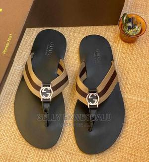 Brown Gucci Men's Leather Slippers | Shoes for sale in Lagos State, Apapa