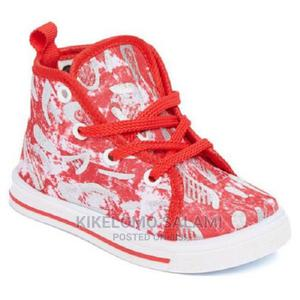 Papos Red and White High Top Sneakers | Children's Shoes for sale in Lagos State, Alimosho