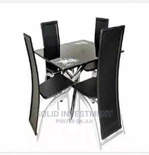 High Quality Glass Dining Table by 4 Sitters | Furniture for sale in Lagos State, Surulere