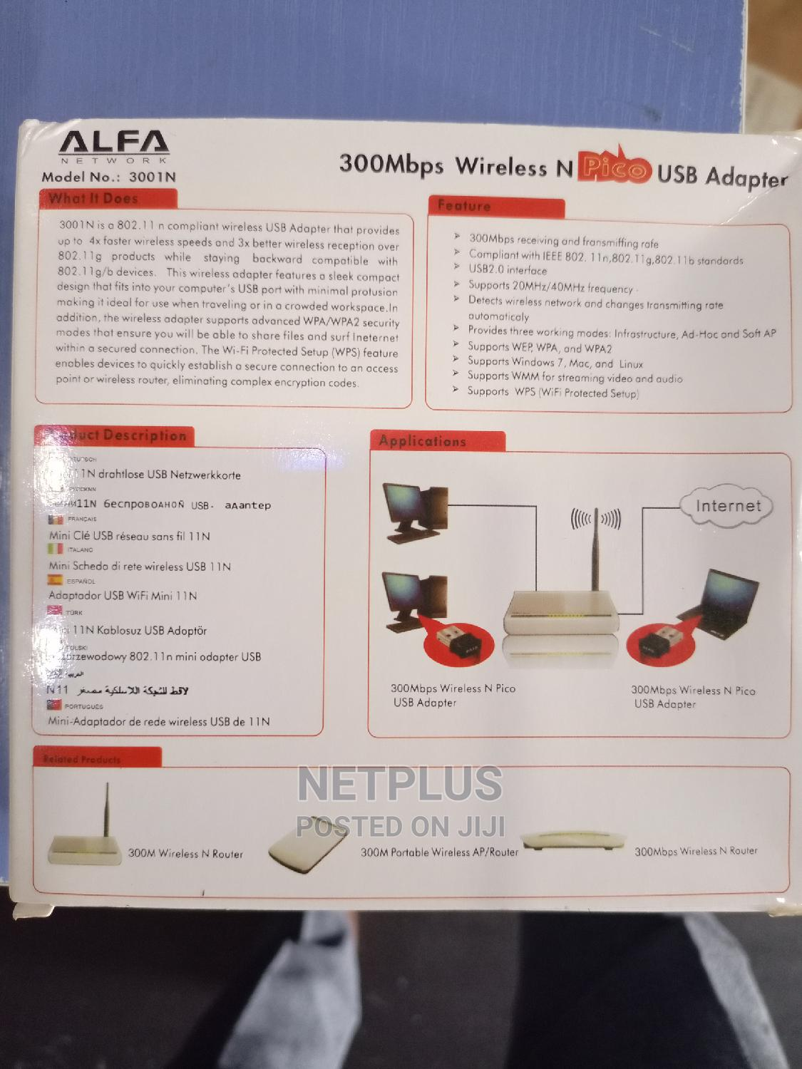 Alfa Wireless Adapter 150 Mbps | Networking Products for sale in Wuse, Abuja (FCT) State, Nigeria