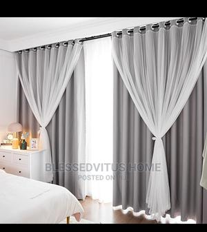 Match Blackout Curtains and Sheer Curtains   Home Accessories for sale in Abuja (FCT) State, Asokoro