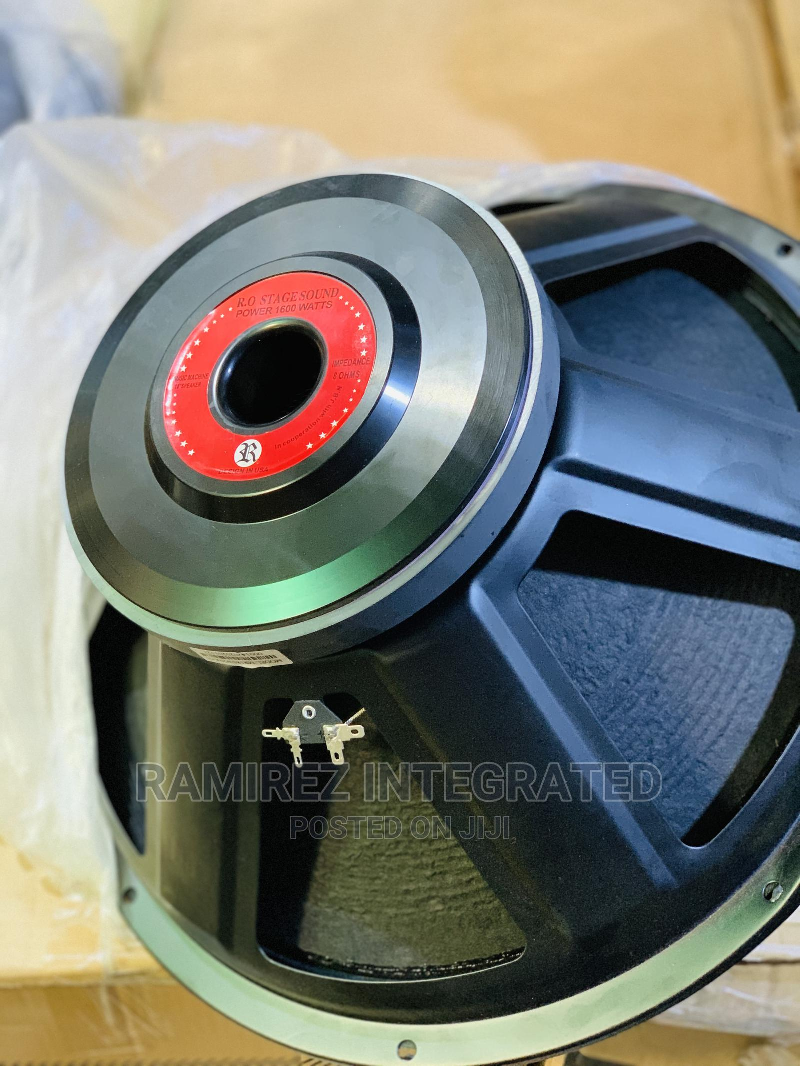 18 Inches Woofer Replacement Naked Loud Speaker