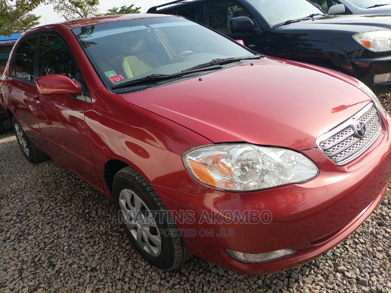 Toyota Corolla 2007 Red   Cars for sale in Garki 2, Abuja (FCT) State, Nigeria
