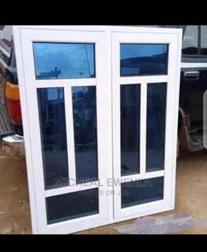 Casement Window With Blue Glass and Partition | Windows for sale in Lagos State, Badagry