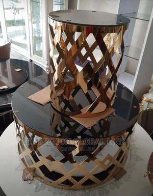 Gold Metal Coffee Table 2+1 | Furniture for sale in Lagos State, Lekki