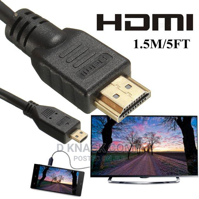 High Speed 5FT Micro HDMI Male Adapter Converter Cable 1.5m | Computer Accessories  for sale in Isolo, Lagos State, Nigeria