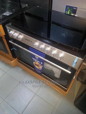 MAXI Gas Cooker 90by60 4normal Gas 2 Electric Oven Grill   Kitchen Appliances for sale in Lagos State, Ikeja