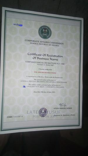 Business Registration - PAY After Certificate Is Out | Legal Services for sale in Lagos State, Ikeja