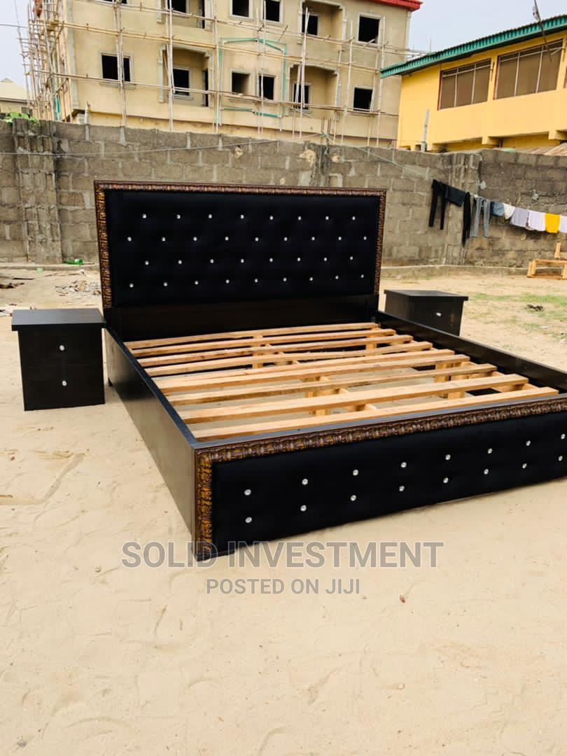 Archive: 6/6 Padded Bed Frame. With Side Drawer and Box Foo