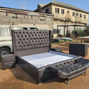 Padded Leather Bed   Furniture for sale in Lagos State, Lekki