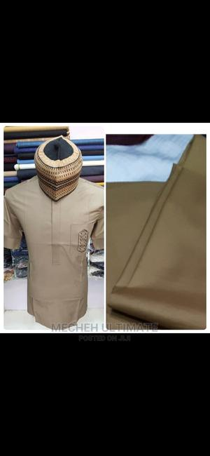 4 Yards Senator Material, Catorn Brown Plain   Clothing for sale in Lagos State, Lagos Island (Eko)