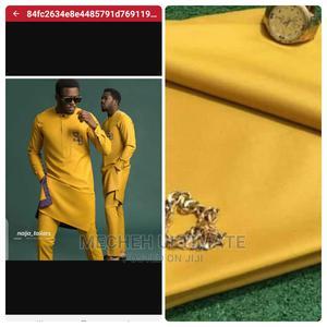 4 Yards Senator Material, Plain Yellow | Clothing for sale in Lagos State, Lagos Island (Eko)
