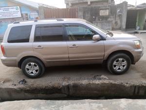 Honda Pilot 2004 EX 4x4 (3.5L 6cyl 5A) Gold | Cars for sale in Lagos State, Ejigbo
