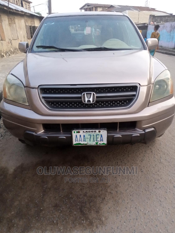Honda Pilot 2004 EX 4x4 (3.5L 6cyl 5A) Gold | Cars for sale in Ejigbo, Lagos State, Nigeria