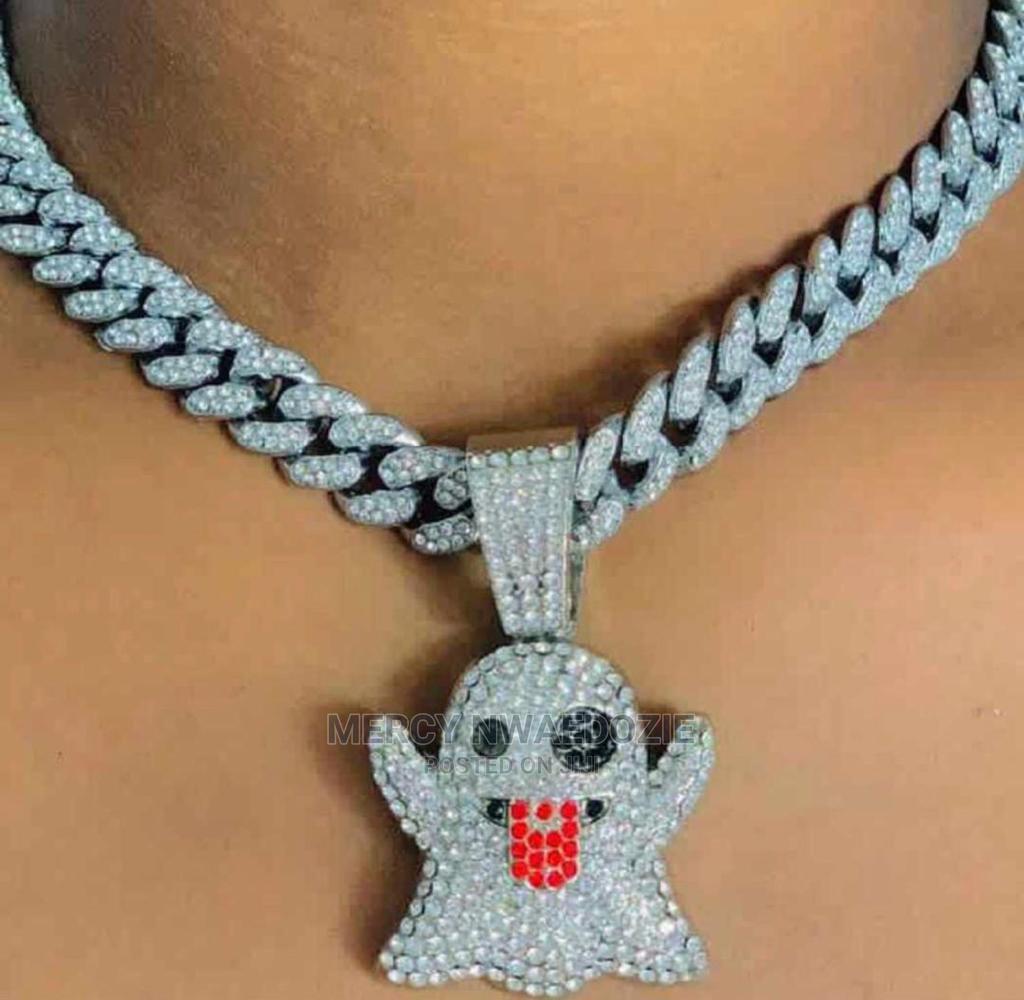 Cuban Chain With Iced Clown Pendant
