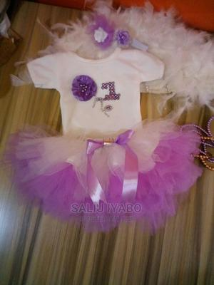 White Top With Lilac Tutu, and Headband | Children's Clothing for sale in Lagos State, Kosofe