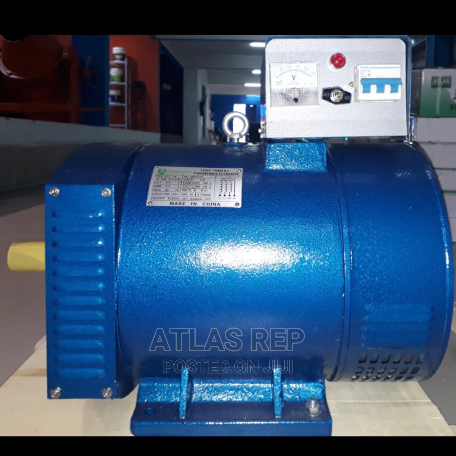 ATLAS Alternator Single Phase 3 Phase 7.5 Kwa to 25 Kwa