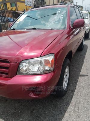 Toyota Highlander 2005 4x4 Red | Cars for sale in Lagos State, Ogba