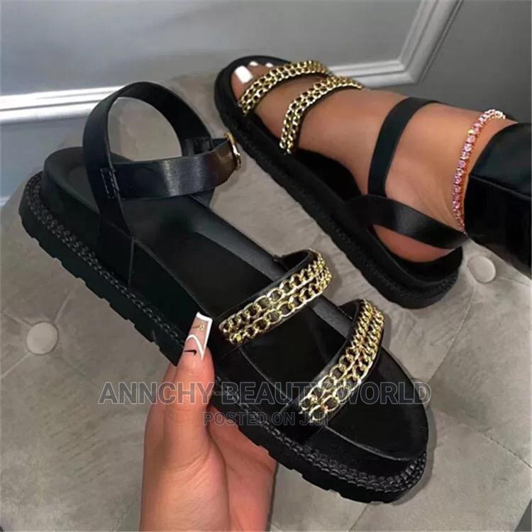 Quality Black Sandal   Shoes for sale in Lagos Island (Eko), Lagos State, Nigeria