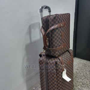 Standard Leather Trolley Luggage Bag | Bags for sale in Lagos State, Ikeja