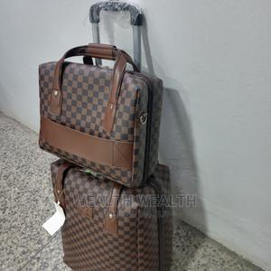 Standard Faux Leather Trolley Luggage Bag | Bags for sale in Lagos State, Ikeja