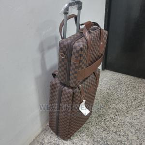 Standard Brown Gucci Leather Luggage Bag | Bags for sale in Lagos State, Ikeja