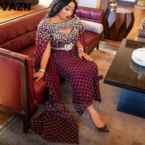 Elegant Diamond Stick Top Quality Evening Party Cloak Dress   Clothing for sale in Lagos State, Lekki