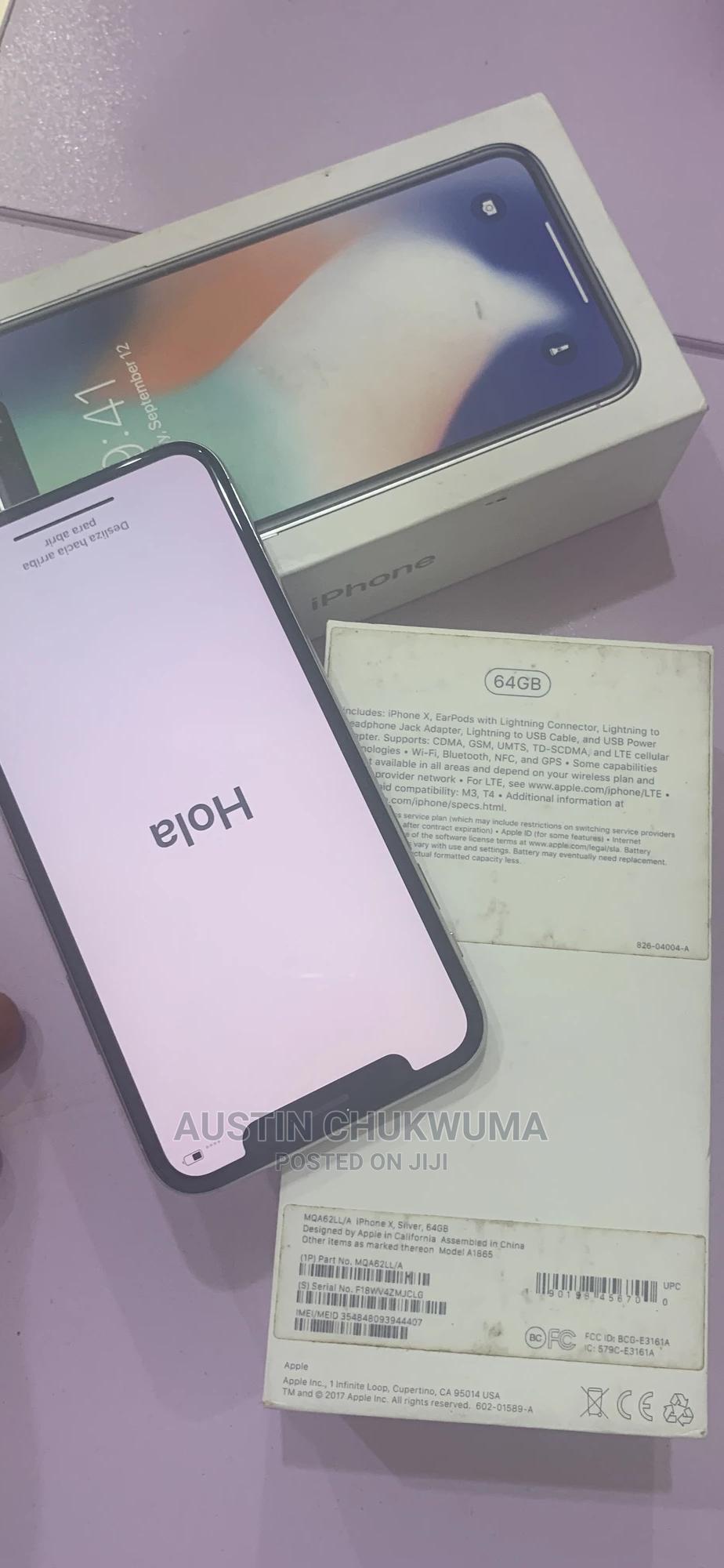 Apple iPhone X 64 GB Silver | Mobile Phones for sale in Wuse 2, Abuja (FCT) State, Nigeria