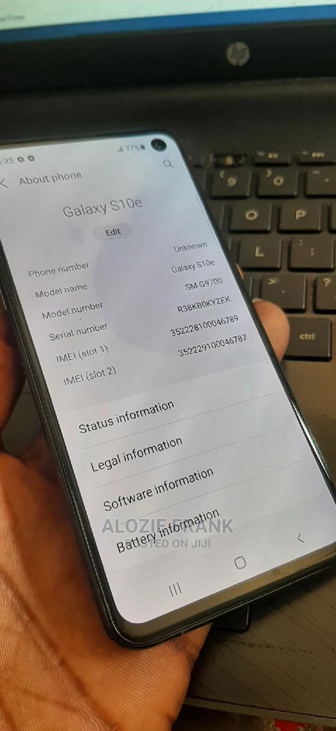 Samsung Galaxy S10e 128 GB Gray   Mobile Phones for sale in Ikeja, Lagos State, Nigeria