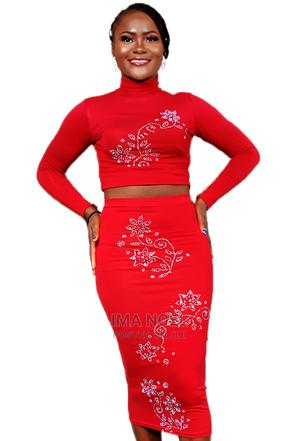 Two Piece Red Top and Skirt (Co-Ords)   Clothing for sale in Abuja (FCT) State, Bwari