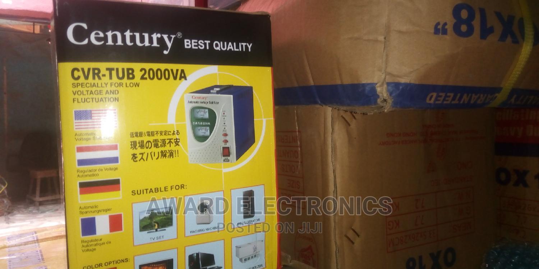 Century Automatic Voltage Stabilizer,Model CVR-TUB 2000VA | Electrical Equipment for sale in Ikeja, Lagos State, Nigeria