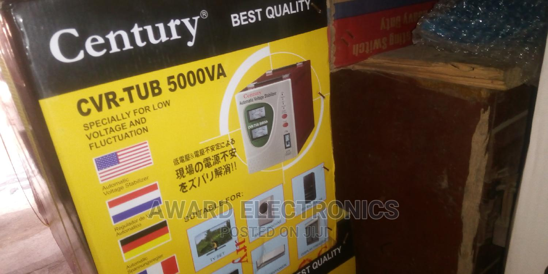 Century Automatic Voltage Stabilizer Model CVR-TUB-5000VA | Electrical Equipment for sale in Ikeja, Lagos State, Nigeria