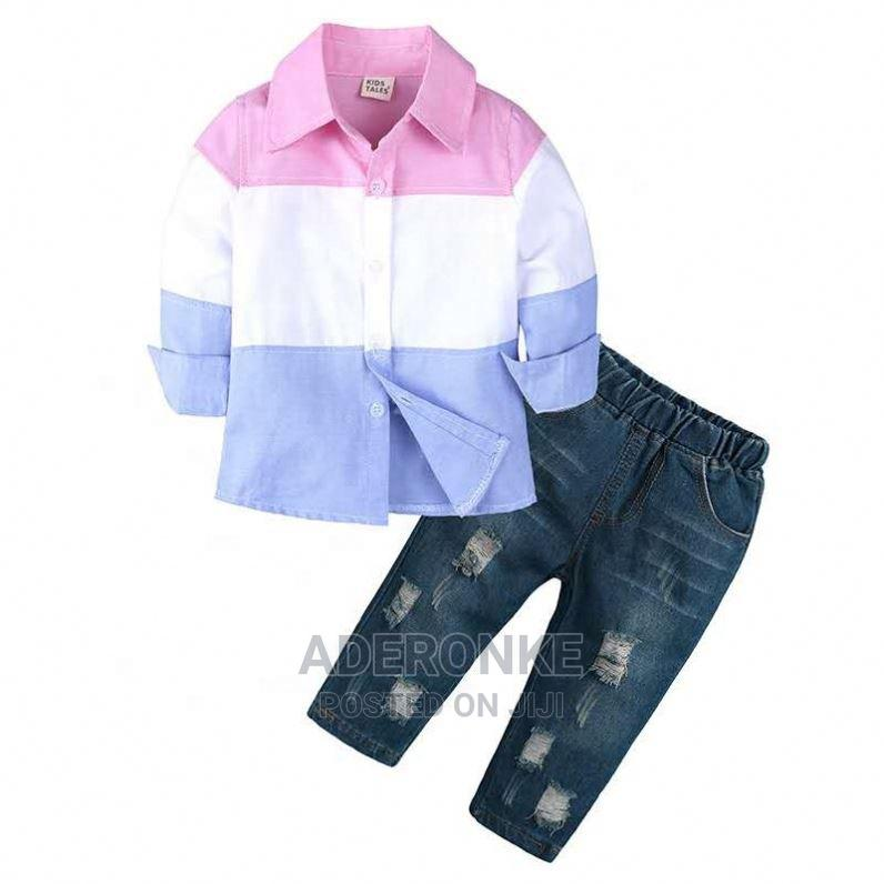 Boys Colorblock 2 Piece Set   Children's Clothing for sale in Ikeja, Lagos State, Nigeria