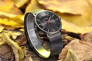CURREN Ultra Flat Waterproof Black Luxury Steel Watch | Watches for sale in Lagos State, Ejigbo