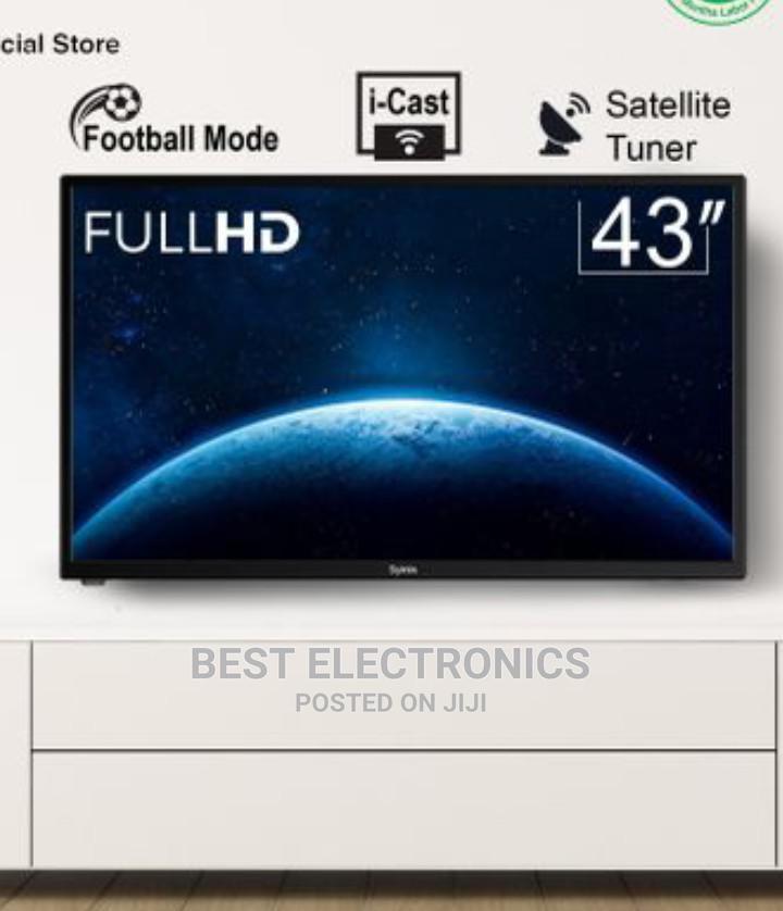 "Syinix 43"" LED HD Digital I-Cast Satellite TV"