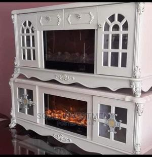 Quality Portable Adjustable Executive Fireplace Tv Stand   Furniture for sale in Lagos State, Ikeja