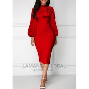 Long Sleeve Dress With Bow Design | Clothing for sale in Lagos State, Ikeja