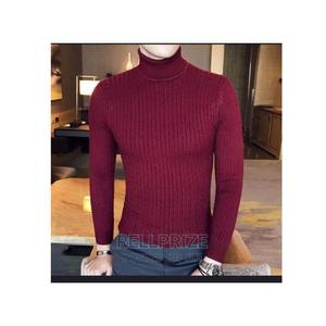 Men/Women Long Sleeve Turtle Neck T-Shirt Wine   Clothing for sale in Lagos State, Isolo