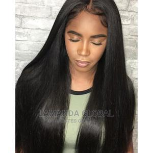 Bone Straight Black Closure Human Hair Wig | Hair Beauty for sale in Lagos State, Ikeja