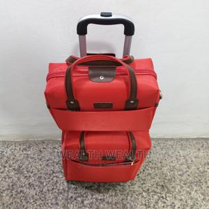 One Small Hand Bag Plus 4 Wheel Luggage Trolley for Sale | Bags for sale in Lagos State, Ikeja