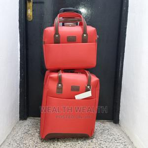 2 Set Red Trolley Luggage Plus Small Hand Bag for Sale | Bags for sale in Lagos State, Ikeja