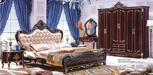 Complete Set of Royal Bed 2 Drawers/Mirror and Wardrobe.   Furniture for sale in Lagos State, Ojo