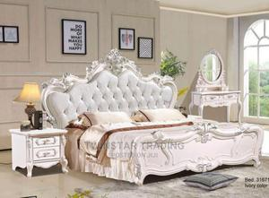 New Royal Bed With 2 Drawers and Mirror Console | Furniture for sale in Lagos State, Ojo