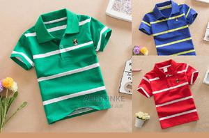 Big Boys' Stripe Polo Shirts - 3 Colour Options   Children's Clothing for sale in Lagos State, Ikeja