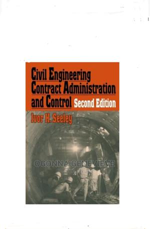 Civil Engineering Contract Administration and Control   Books & Games for sale in Lagos State, Yaba