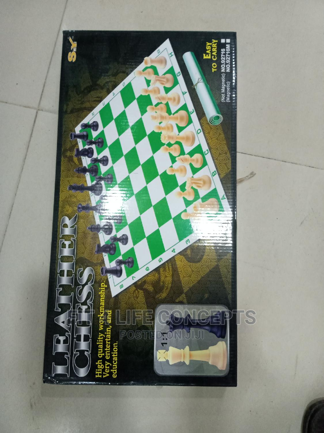 Leather Chess Game