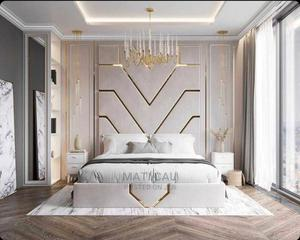 Classic Bed With Gold Pattern | Furniture for sale in Lagos State, Ikoyi