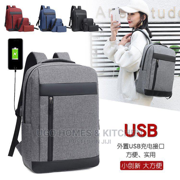 3 in 1 Smart Bag Laptop Bag Backpack With USB Port Unisex